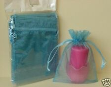5X7 HOLIDAY CHRISTMAS GIFT ORGANZA POUCH BAGSmoke Blue