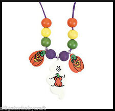 Halloween Charm Necklace Craft kit for Kids Ghost Jack o Lantern Pumpkin ABCraft