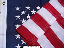 2' X 3'  U.S./USA  AMERICAN FLAG NYLON EMBROIDERED SOLID BRASS GROMMETS 2X3