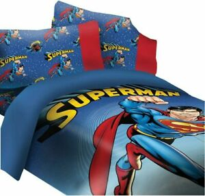 Licensed DC Superman Universe 2 Piece Reversible Soft Twin Size Comforter Set