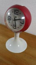 Wecker Tischwecker Retro Vintage Victoria 4 Rubine Space Age Design - Rot weiß