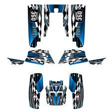 Yamaha Banshee graphics full coverage decal kit free custom service #2500 blue