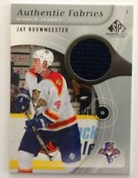 2005-06 SP Game Used Authentic Fabrics Jay Bouwmeester #AF-JB