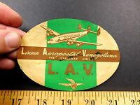 1940s Linea Aeroppostal Venezolana LAV Venezulan Airline Luggage Label Sticker