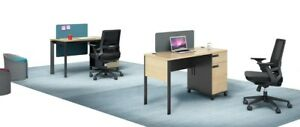 Home office study Desk computer table with Two in build drawers, with protection