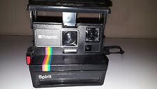 Retro Vintage Rainbow Stripe Polaroid Spirit Instant Film Camera