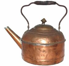 Antique Copper Kettle Tea Water Primitive Solder Repairs Hammered Cleveland