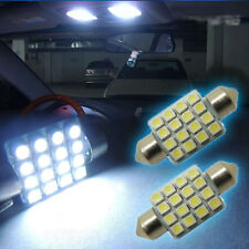 "1 Pair  White16-SMD 1.50"" 36mm 6418 C5W LED Bulbs For Car License Plate Light"