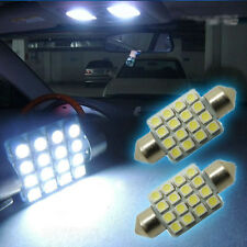 "1 Pair White 16-SMD 1.50"" 36mm 6418 C5W LED Bulbs For Car License Plate Light"