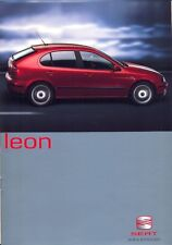 Seat Leon UK market 2001 original full colour sales brochure inc Cupra 1.8 20V T
