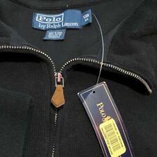 NWT $110 Polo Ralph Lauren Mens Long Sleeve Cotton Sweater Black 1/4 Zip Big 5X