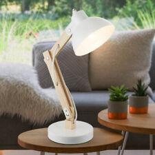 Globo Tischlampe Schreibtischlampe Tongariro Holz WEISS Retro 1x E27