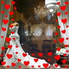 57 Love Hearts Shop Window Sign Decals Florist Beauty Display Vinyl Stickers  v3