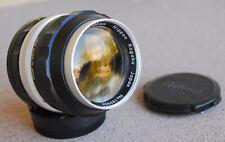 Nikon Nikkor P 105mm F2.5 manual focus portrait lens 1968 vintage telephoto EXC+