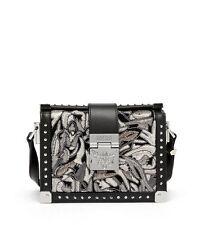 MCM Women's Mitte Brocade CrossBody Bag Black New Sealed