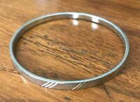 "Monet Silver-tone 2 1/2"" Diameter 1/4"" Bangle Bracelet"