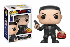 Funko Pop Daredevil PUNISHER 216 Limited Edition Marvel CHASE with Protector