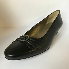Equity Tania Court Shoes Black Leather E Fitting Size 7 £34.99