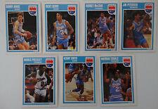 1989-90 Fleer Sacramento Kings Team Set Of 7 Basketball Cards