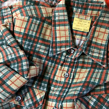 Mint Vtg 50s 60s Sears Work Flannel Buffalo Plaid Stripe Surf Board Skate Shirt