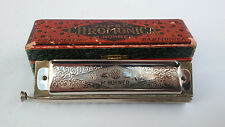 RARE VINTAGE THE SUPER HARMONICA CHROMATIC M.HOHNER + ORIGINAL BOX