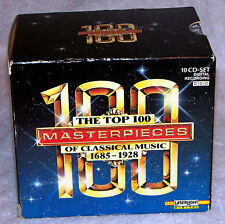 The Top 100 Masterpieces of Classical Music (CD, Jul-1994, 10 Discs, Laserlight)