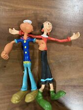 Vintage Popeye & Olive Oyl 6� Bendy Figures ~ 1978 King Features Syndicate
