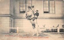 SAUMUR SAUTER EN LIBERTE COURBETTE FRANCE SOLDIER HORSE MILITARY POSTCARD