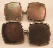 -Mother of Pearl Victorian Double Sided Vintage Cuff Links gift d13
