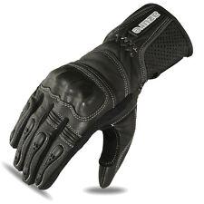 Motorcycle Motorbike Gloves Biker Racing Wear Black Goat Leather Knuckles 1647 S