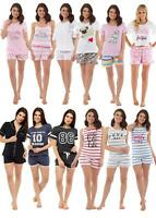 Ladies Womens Summer Short Pyjamas 2 piece Set Loungewear Nightwear pjs Shorts
