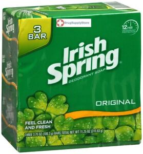 Irish Spring Bar Original 3 X 3.75 Oz