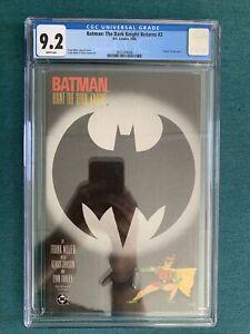 Batman Dark Knight Returns 3 CGC 9.2 Death of Joker White Pages!!