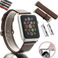 Genuine Leather Watch Band Strap for Apple Watch + Classic Buckle 38mm/42mm US