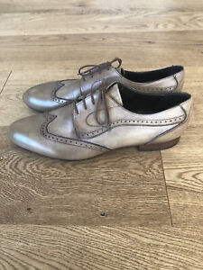 Fratelli Portogallo Men Classic Formal Leather Rustic Brown Grey Shoes EU43 UK 9