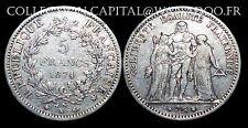 5 Francs Hercule 1874K  Bordeaux Argent
