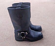 """AdTec Women's 12"""" Harness Boot Black Heavy Duty Leather Work Biker Sz 6.5 M"""