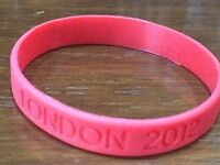 NEW RED LONDON 2012 RUBBER SILICONE WRIST BAND OLYMPIC TEAM UK GB