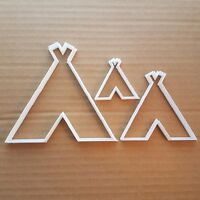 Tent Tipi Teepee Lodge Shape Cookie Cutter Dough Biscuit Pastry Fondant Sharp