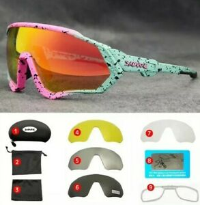 NEW Kapvoe-gafas de sol de bicicleta con 5 Lentes, Fotocromaticos Ciclismo UV400