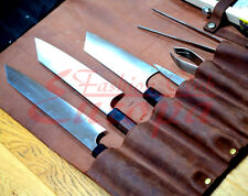 Real Leather Knife Roll, Chefs Bag
