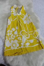 Mary Elizabeth Clothing Handmade Etsy Girls Yellow Floral Halter Dress Size 4T