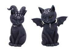 More details for black cats figurine nemesis now bat cat horned cat malpuss pawzuph felines 11cm