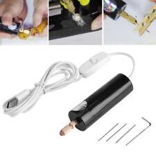 DC 5V Mini Elektrische Handbohrmaschine Micro USB Drill mit 3 Spiralbohrer DIY
