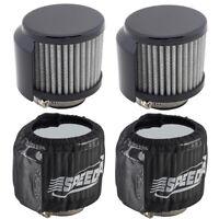 Speedway Motors Shielded Valve Cover Breather/Pre-Filter Kit