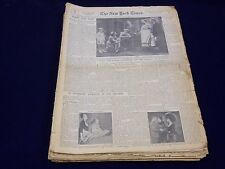 1950 NEW YORK TIMES NEWSPAPER SUNDAY DRAMA SECTIONS LOT OF 38 PETER PAN -  NTL 1