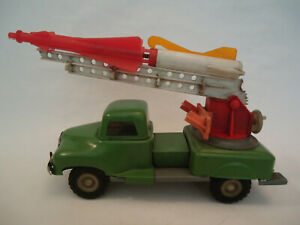 Vintage Rare Poland Military Missile Rocket Launcher Friction Truck Tin Toy