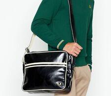 Fred Perry Authentic Men's Messenger Classic Shoulder Bag Black / Ecru