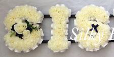 Artificial Silk Funeral Flower Wreath 3 Letter Sis Tribute Memorial Sister False