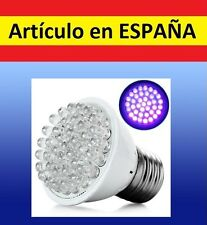 BOMBILLA 38Leds ULTRAVIOLETA E27 billetes falsos 220V luz negra UV LED 2W LED